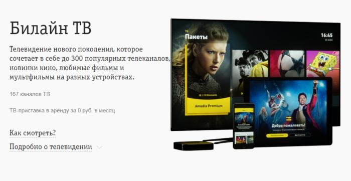 """Тариф Билайн """"Близкие люди 3"""" - Телевидение"""