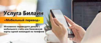 Описание услуги «Мобильный перевод»