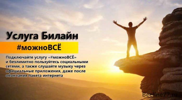 """Описание услуги Билайн """"#можноВСЁ"""""""