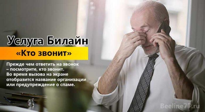 """Услуга Билайн """"Кто звонит"""""""