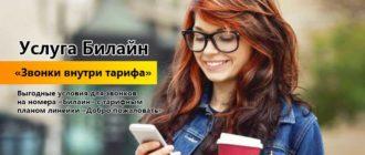 """Услуга Билайн """"Звонки внутри тарифа"""""""